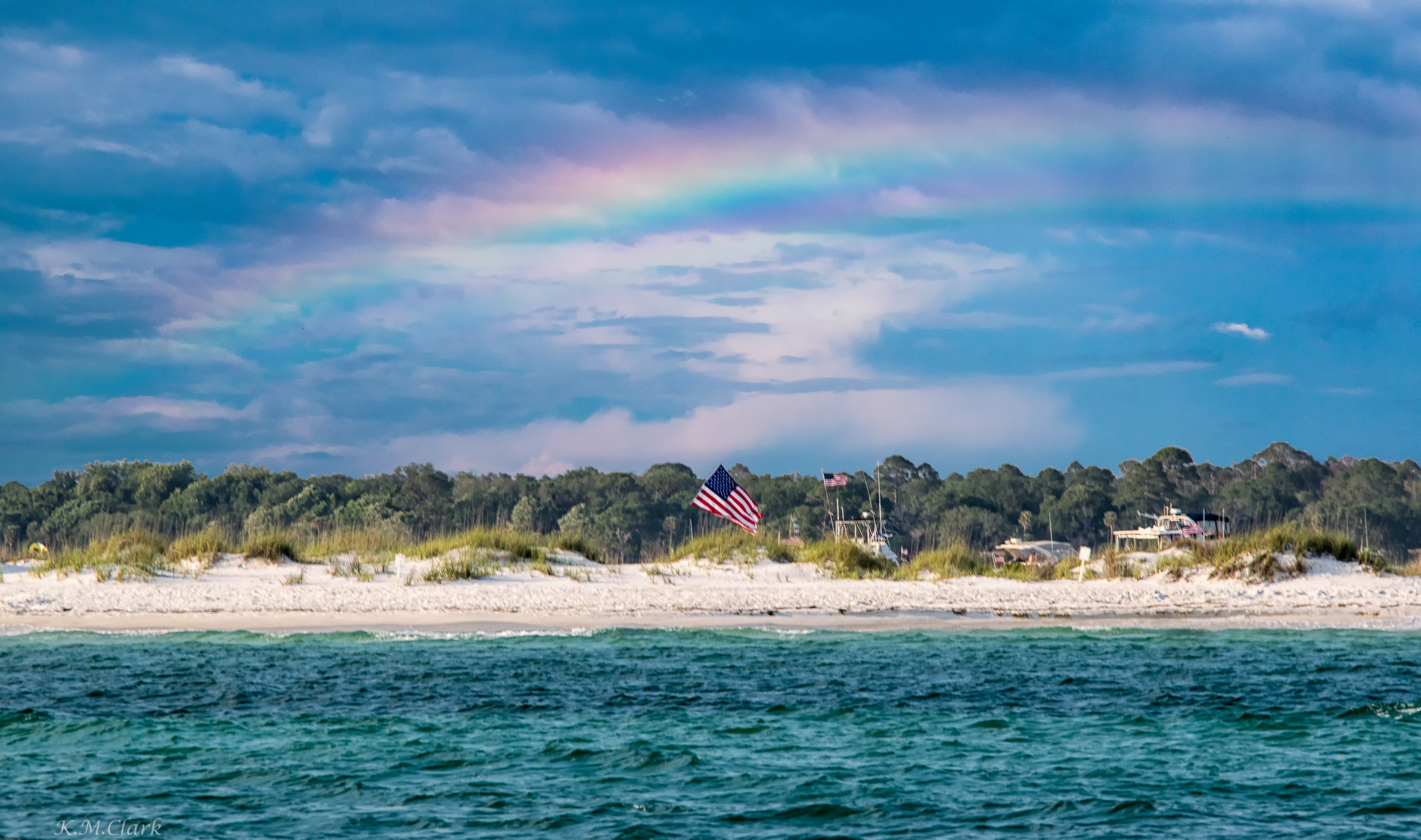 Memorial Day Rainbow over Shell Island